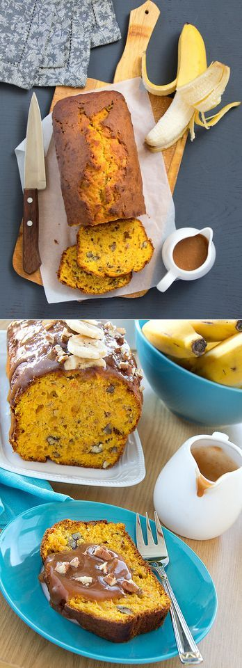 Тыквенно-банановый хлеб с карамельным соусом и орехами пекан. - Люблю готовить.