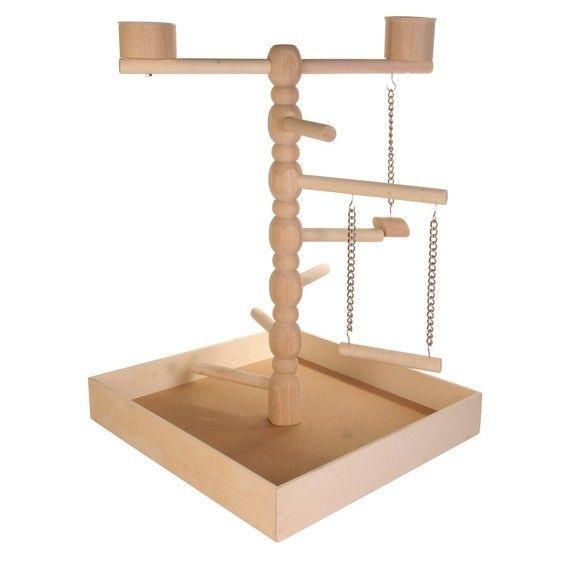 Gioco in legno per cocoriti e canarini. Misure: 41 × 55 × 41 cm