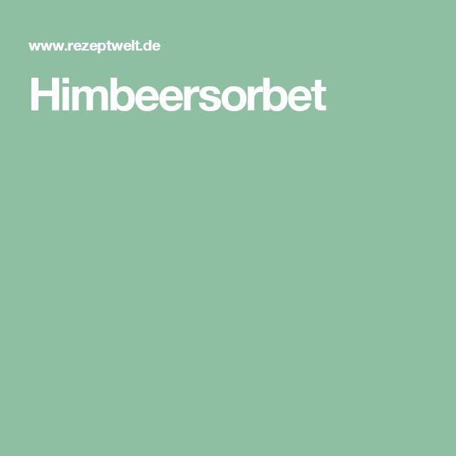 Himbeersorbet