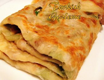 How to make Gozleme Turkish bread,Turkish pancake - Great filling suggestions in the recipe for you too!   #Turkish #bread #gozleme