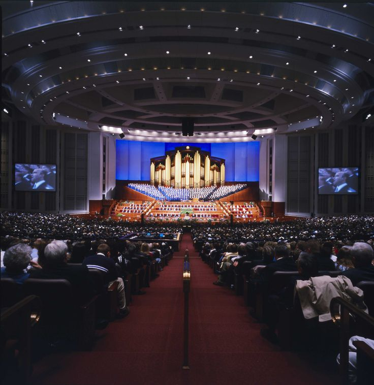 LDS Conference Center has 21,000 seats; they will be filled five times between the 4th and 5th of October 2014 for The Church of Jesus Christ of Latter-day Saints' semiannual general conference. More than 100,000 people will experience the worldwide conference from inside the Conference Center — many for the very first time. Millions of others will watch and listen to the proceedings around the world.