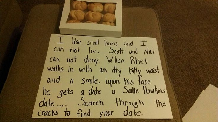 Cute way to ask someone to Sadies! #sadies #dance #date #cute I find this hilarious
