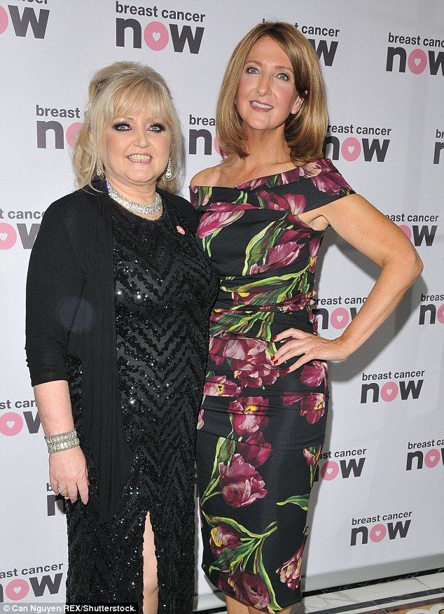 TV queens: Linda Nolan (left) and Victoria Derbyshire (right) paired up for pictures...