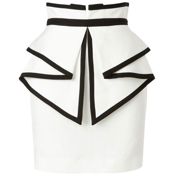 Sass & Bide To Laugh Out Loud Tailored Skirt With Peplum Detail ($350) ❤ liked on Polyvore