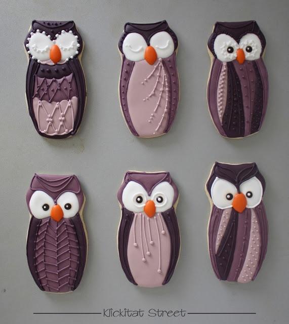 Patterned Owl Cookies | Klickitat Street