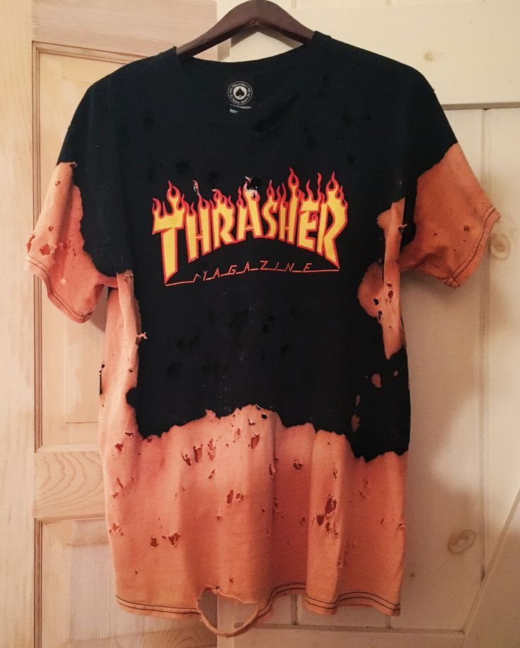 Thrasher, skate, ripped, original, t-shirt, one of a kind