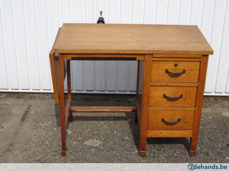 Kleine houten bureau vintage jaren 50 60 te koop