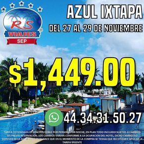 Viaja al hotel Azul Ixtapa. #HazloRealidHazloRealidad #YoViajoConRSViajesSEP  (en Rs Viajes Franquicia Sep)