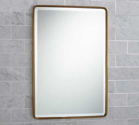 Powder room : if you want a med. cab. vs. a wall mirror : Vintage Recessed Medicine Cabinet | Pottery Barn