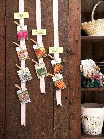 seed calendar, love this idea, great timing, starting seedlings this weekend !!