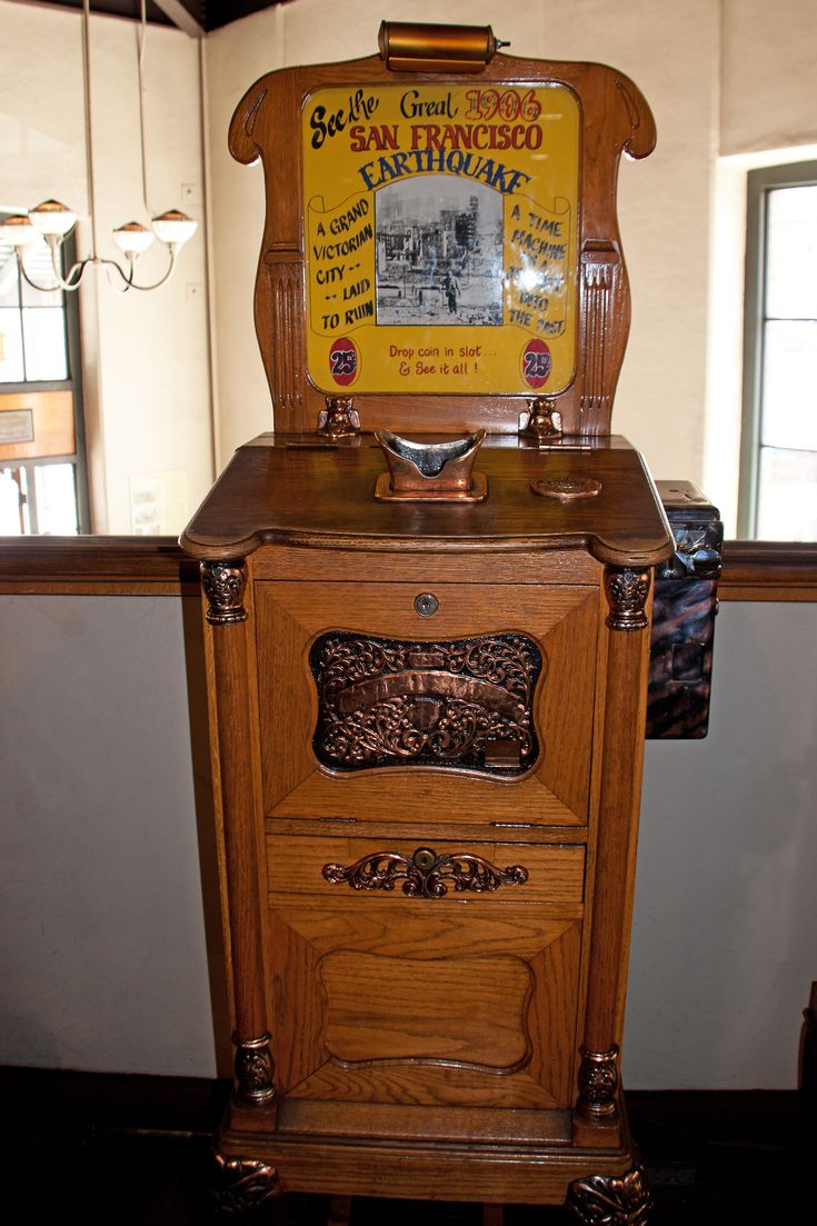 Antique Penny Arcade Machine   ...Please save this pin.  Because for vintage collectibles - Click on the following link!.. http://www.ebay.com/usr/prestige_online