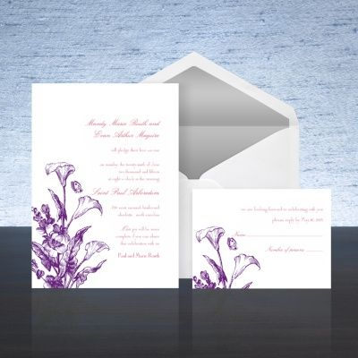 Calla Lily   Purple Wedding Invitation | Bed Bath U0026 Beyond Wedding  Invitations U0026 Accessories