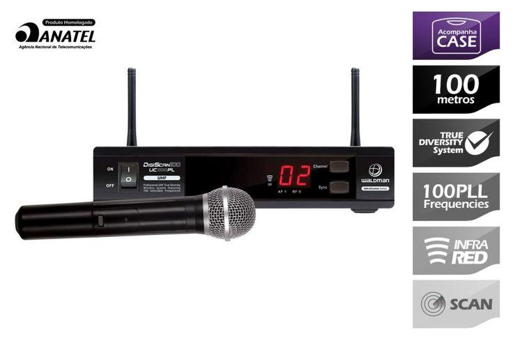 Waldman - Microfone Wireless DigiScan 100 UC1100PL