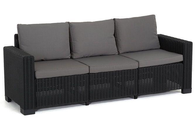 California 3-Sits soffa - Graphite | Trademax.se 3-sits soffa Bredd: 199 cm Djup: 68 cm Höjd: 72 cm