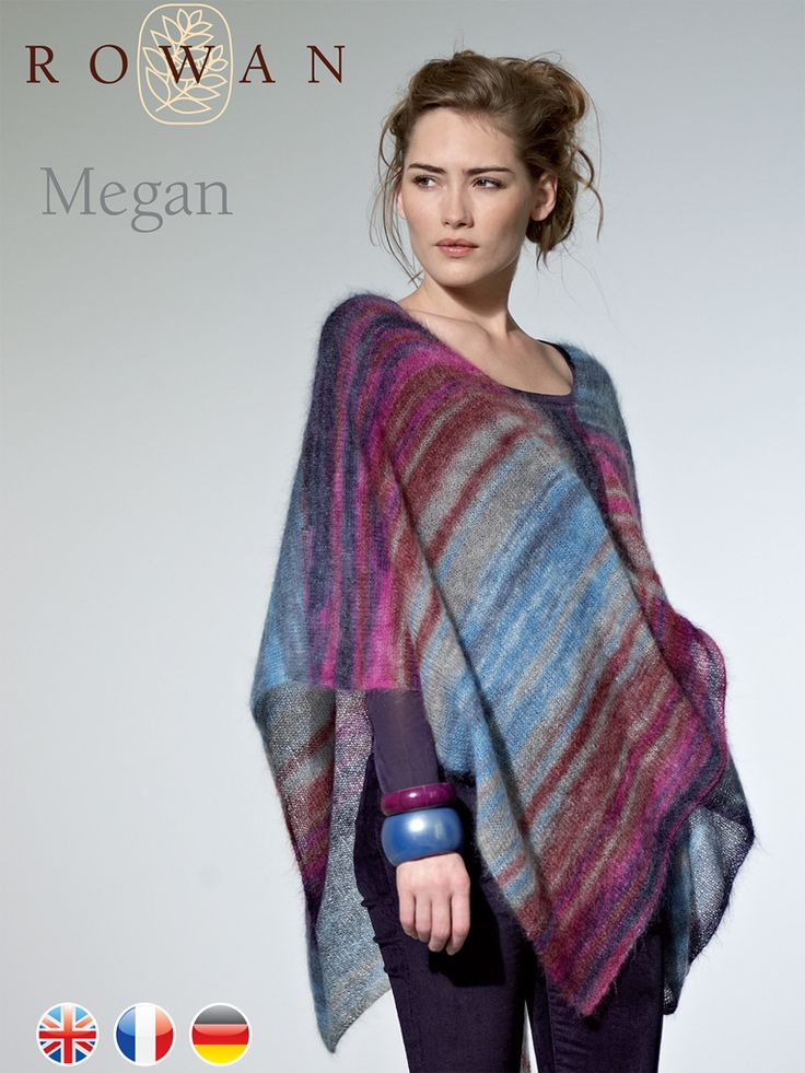 183 best knitting poncho\'s wraps jackets images on Pinterest | Knit ...