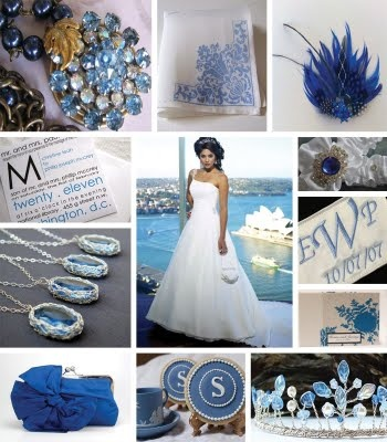 A snow queen wedding. Wintery whites, ice blue and royal blue crystals and details. Everything frosty and crisp!