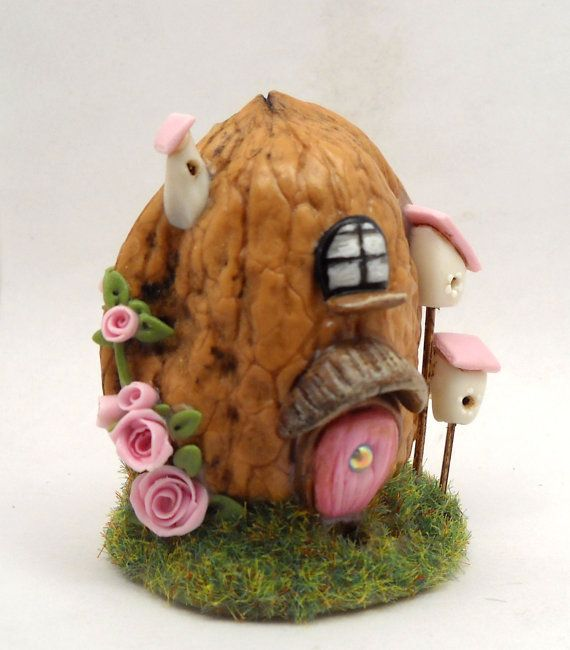 Micro fantasy house in a walnut shell furnished with by 64tnt