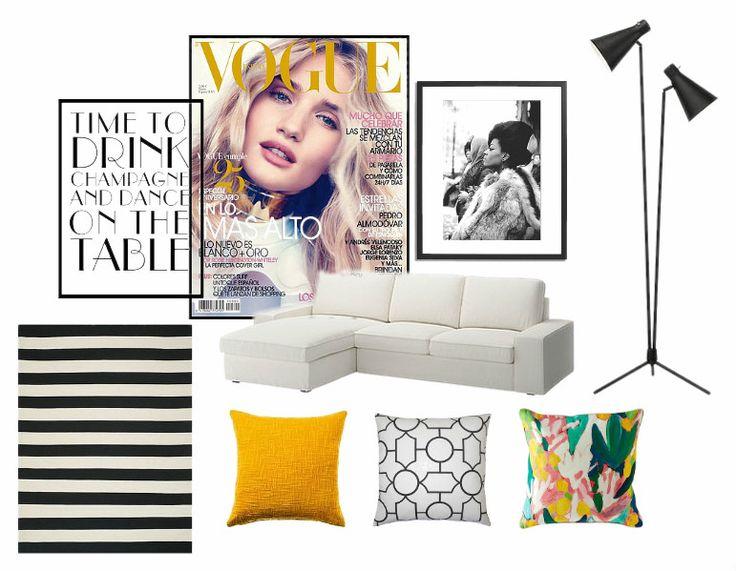modern living room mood board