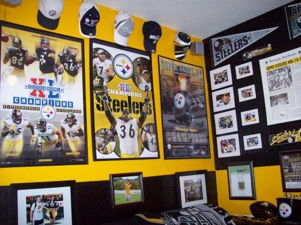 Steelers Bedroom Ideas 38 best pittsburgh steelers rooms & (wo) man caves images on