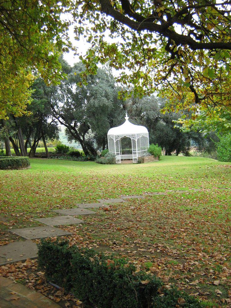 Garden path to the gazebo