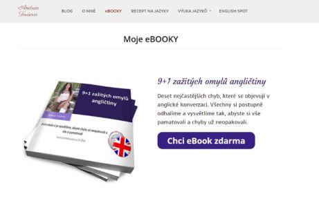Andrea Toušová a její ebook ZDARMA: 9+1 zažitých omylů angličtiny