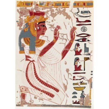 Egypt Thebes Valley of the Queens Nefertiti Tomb Nefertiti 1300-1200 BC Canvas Art - (18 x 24)