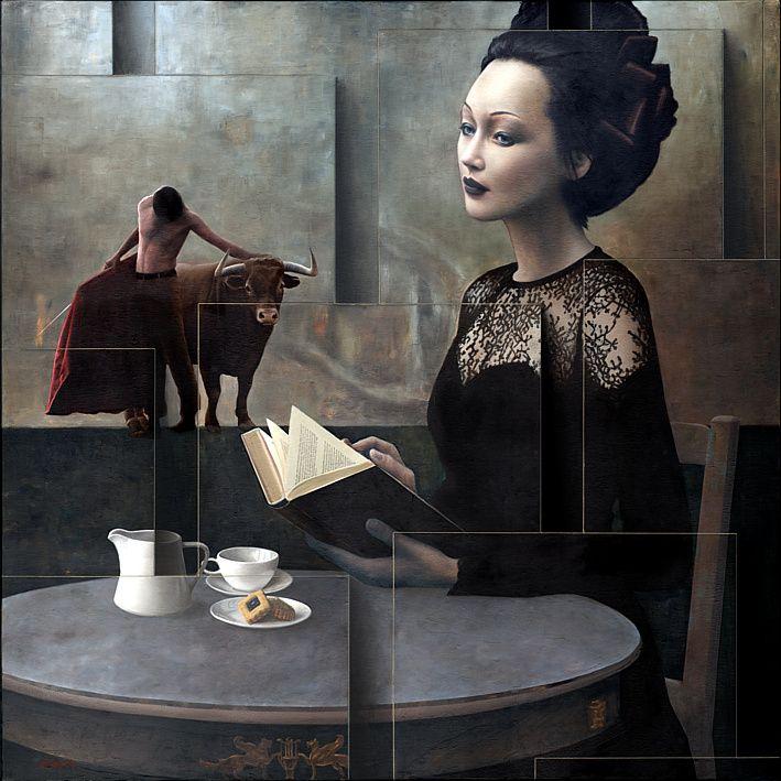bibliolectors:Exotismo lector (ilustración de Sergio Cerchi)
