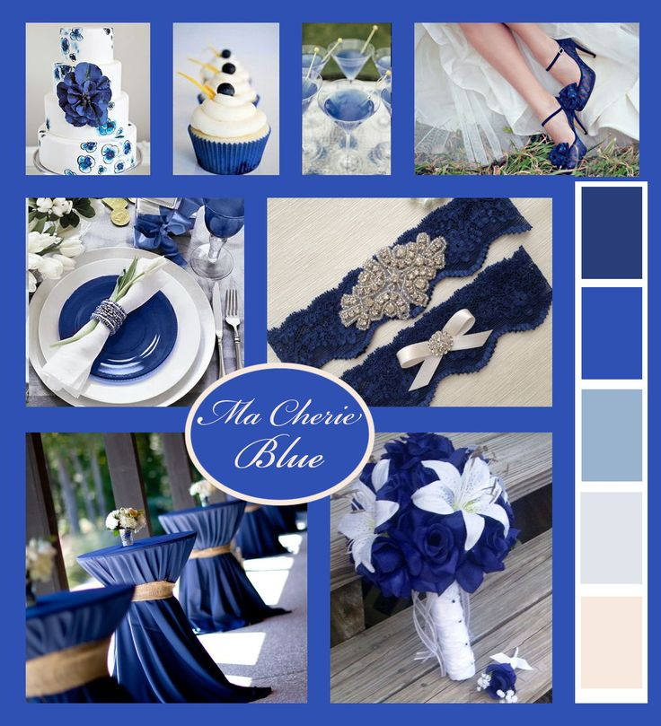 Blue wedding mood