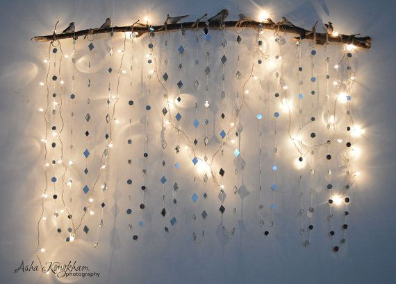 Mirror Garland -CHRISTMAS GARLAND - New Year Party Decor - 4 feet long - (Set of 5) on Etsy, $50.00