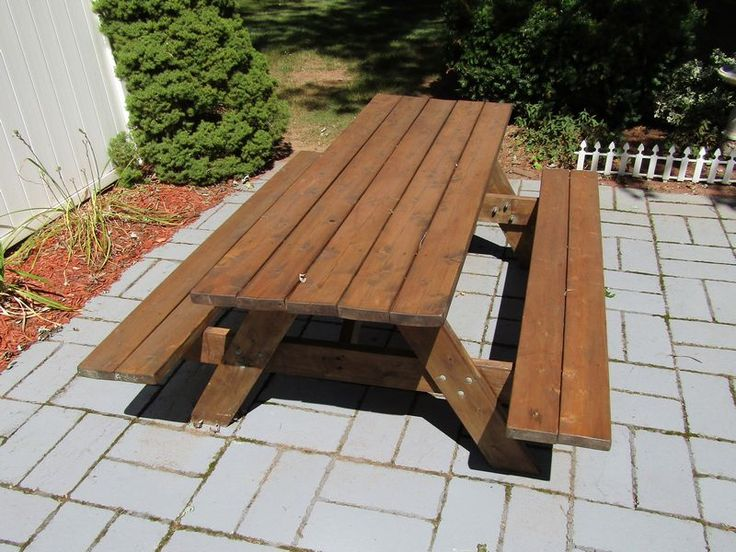 """Walpole Woodworkers picnic table 30""""Tx63""""Wx80""""L; Masterbuilt 30"""" charcoal smoker; Brinkman propane cooker. Large, heavy item located on back patio."""