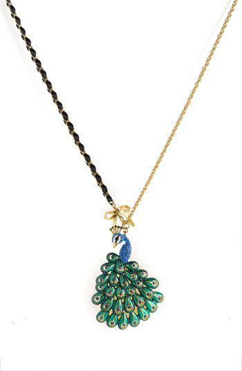 Betsey Johnson 'Asian Jungle' Peacock Pendant Necklace $50 at Nordstrom: Eye Makeup, Peacocks Love, Beautiful Necklace, Peacocks Wedding Ideas, Jewelry, Beautiful Peacock