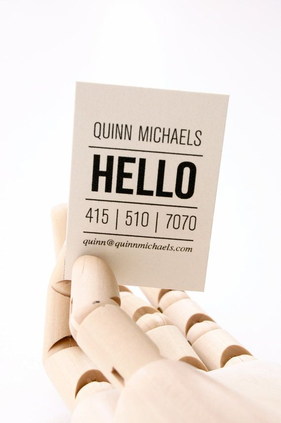 Quinn Letterpress Calling Cards  Set of 50 by inhauspress on Etsy, $75.00