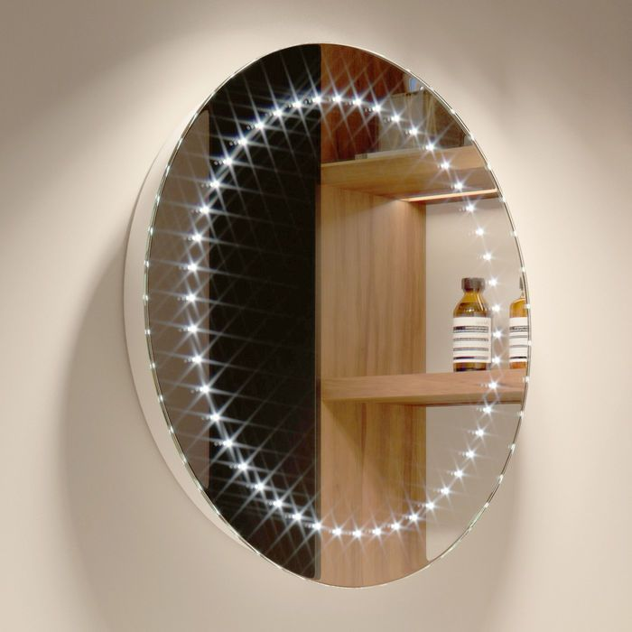500x500mm Orb Led Mirror Battery Operated With Images Led Mirror Modern Bathroom Mirrors Led Mirror Bathroom