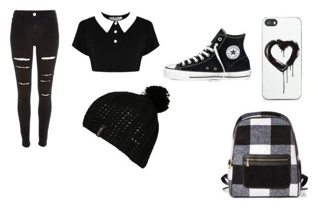 """""""black and white"""" by charomg on Polyvore featuring River Island, Zero Gravity, Converse and Billabong"""