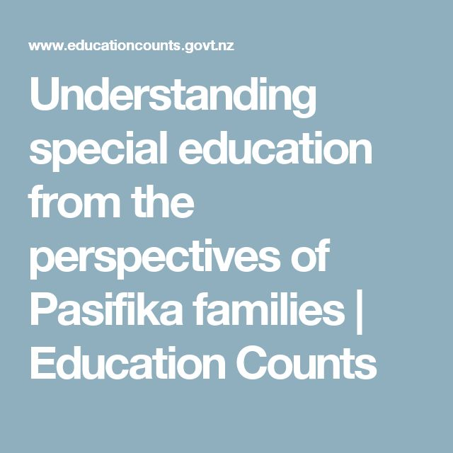 Understanding special education from the perspectives of Pasifika families | Education Counts