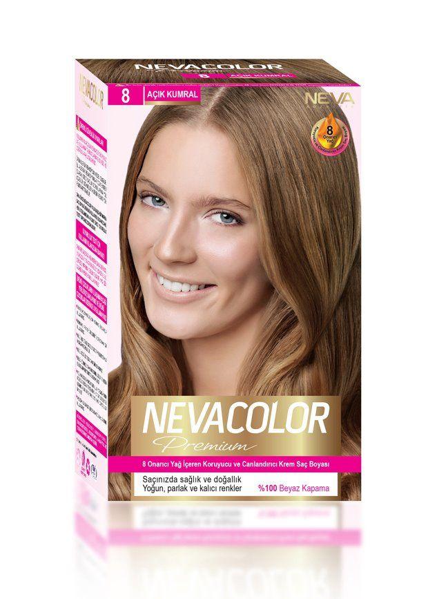 Nevacolor Premium Sac Boyasi 8 Acik Kumral Sac Boyasi Sac Sac