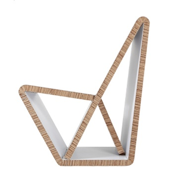 VouwWow: foldable carboard chair