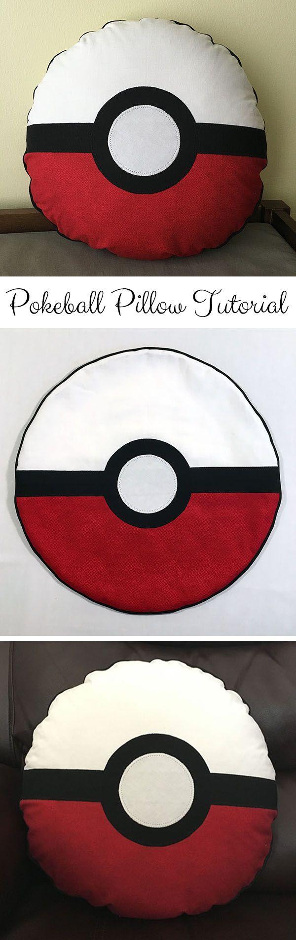 Pokemon Pokeball Pillow Tutorial | Sewing Tutorial | #InspirationSpotlight