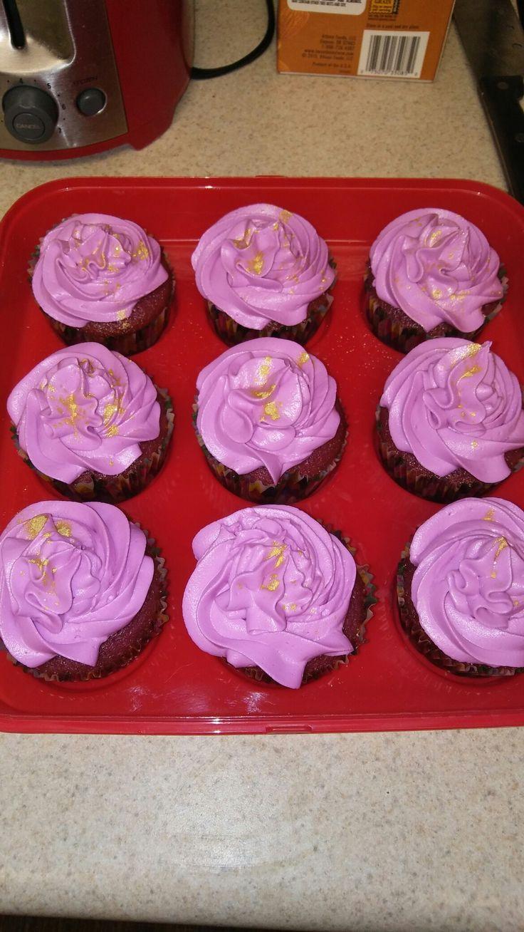 My purple velvet cupcakes...the best!