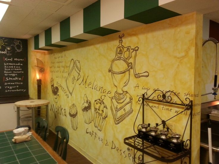 50 best My restaurant wall painting & interior design projects ...
