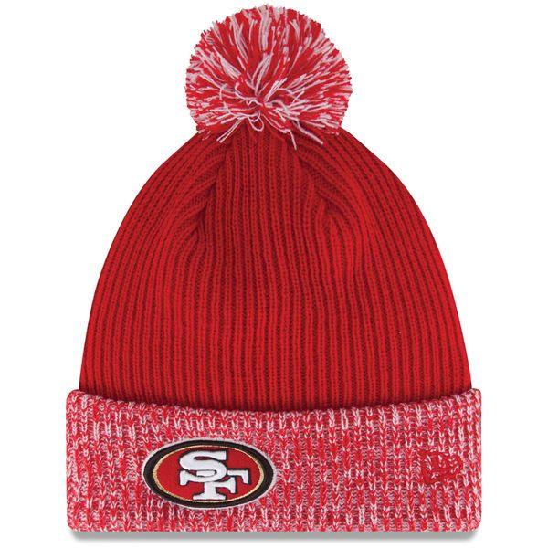San Francisco 49ers New Era Flurry Frost Knit Hat - Scarlet - $14.99