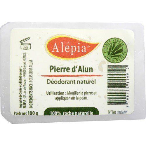 Pierre d'Alun Naturelle - Lingot 100 G (Déodorant, Régule La Transpiration) - Potassium Alun Price:     La pierre d'Alun naturelle , ou « Potassium alum » est à base de sel de potassium et d'aluminium qui est...
