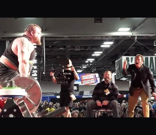 Watch Arnold Schwarzenegger Go Crazy as Eddie Hall Breaks the World Deadlift Record