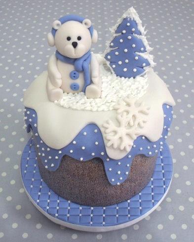 winter cake, make in clay with bottom to look like an igloo?