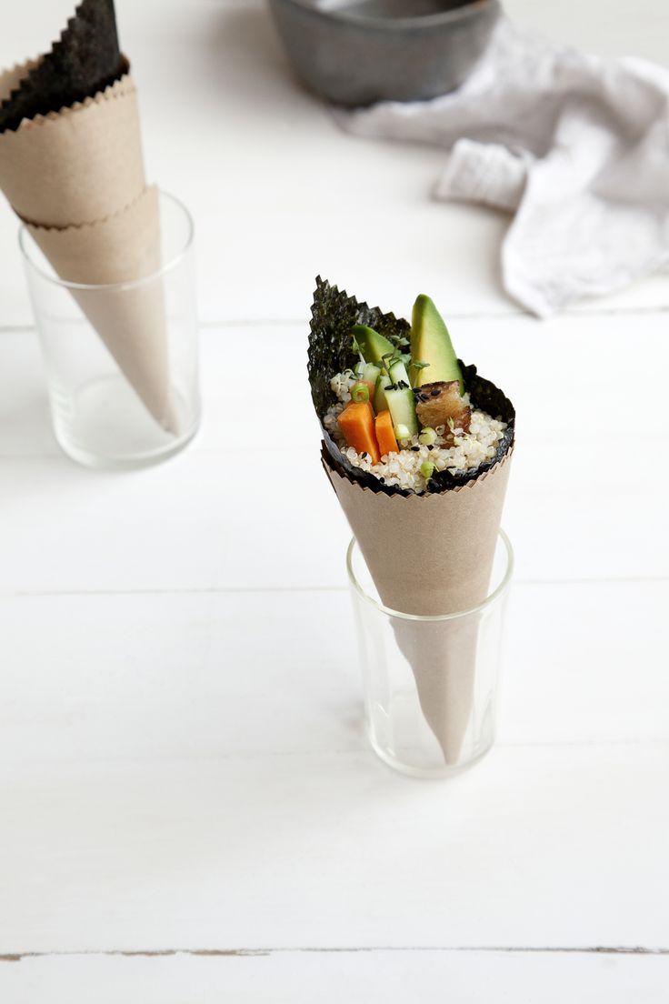 quinoa sushi cone