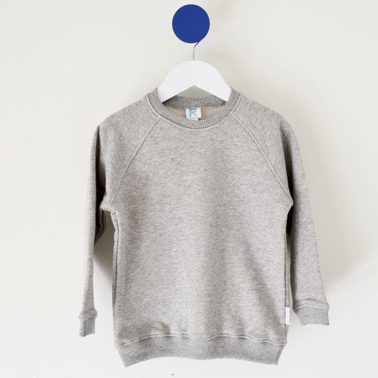Classic Sweater available sizes 1-7 Grey Marle Made in Australia