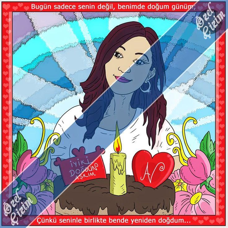 Aşkınıza Karikatürlü Doğum Günü Hediyesi  #ozelcizim #karikatur #caricature #hediye #hediyelik #gift #forgifting #hediyeresim #resim #sanat #picture #love #giftfordarling #sevgiliyehediye #funnytimes #inlove #sevgi #dogumgunu #happybirthday #happybirthdaygift