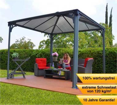 Palram Palermo™ 3000 Gazebo Pavillon (295x295 cm) - UV-beständige Doppelstegplatten, extrem langlebig und stabil, hohe Schneelast, rostresistent