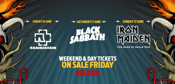 Download Festival 2016 - all three headliners announced. Tickets go on sale at 9am on Friday, 23 October.