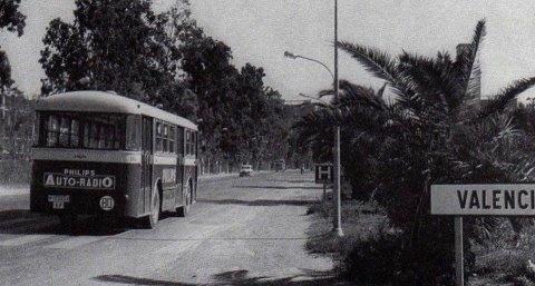 Entrada a Valencia por la Avenida del Cid, años 60